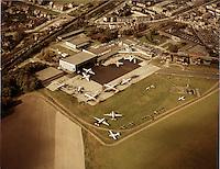 Luchtfoto van 1972 van de luchthaven van Deurne.