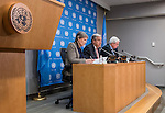 Press Briefing on humanitarian crises in Nigeria, Somalia, South Sudan and Yemen<br /> Speakers:<br /> UN Secretary-General, Antonio Guterres<br /> UNDP Administrator, Helen Clark<br /> Emergency Relief Coordinator, Stephen O�Brien<br /> Executive Director of the World Food Programme, Ertharin Cousin  (by video conference)