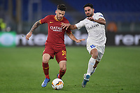 Carles Perez of  Roma and Milad Mohammadi of Gent<br /> Roma 20-02-2020 Stadio Olimpico <br /> Football Europa League 2019/2020 Round of 32 first leg <br /> AS Roma -  Kaa Gent<br /> Photo Andrea Staccioli / Insidefoto