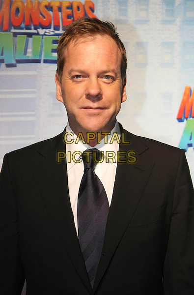 "KIEFER SUTHERLAND.Premiere of ""Monsters vs. Aliens"", UCI Colosseum Kino, Berlin, Germany..March 9th, 2009.half length black suit jacket .CAP/PPG/NK.©Norbert Kesten/People Picture/Capital Pictures"