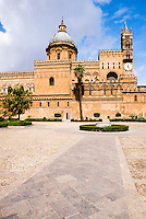 Sicilian Baroque architecture, Palermo Cathedral (Duomo di Palermo), Sicily, Italy, Europe. This is a photo of Sicilian Baroque architecture in Sicily, Palermo Cathedral (Duomo di Palermo), Sicily, Italy, Europe.