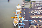 Aerial view of  Port of Wilmington, DE,