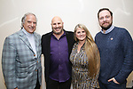 Stewart F. Lane, Gio Messale, Bonnie Comley and Moritz von Stuelpnagel attends the BroadwayHD panel discussion at Broadwaycom 2018 on January 26, 2018 at Jacob Javitz Center in New York City.