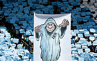 Calcio, Serie A: Roma, stadio Olimpico, 30 aprile 2017.<br /> Lazio's supporters hold a banner before the Italian Serie A football match between AS Roma and Lazio at Rome's Olympic stadium, April 30, 2017.<br /> UPDATE IMAGES PRESS/Isabella Bonotto