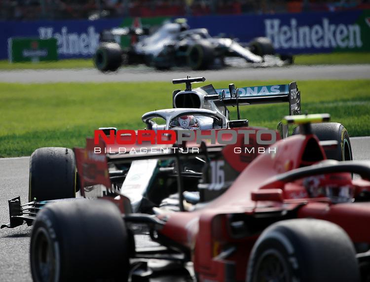 08.09.2019, Autodromo Nazionale di Monza, Monza, FORMULA 1 GRAN PREMIO HEINEKEN D'ITALIA 2019<br />,im Bild<br />Charles Leclerc (MCO#16), Scuderia Ferrari Mission Winnow, Lewis Hamilton (GB#44), Mercedes-AMG Petronas Motorsport, Valtteri Bottas (FIN#77), Mercedes-AMG Petronas Motorsport<br /> <br /> Foto © nordphoto / Bratic