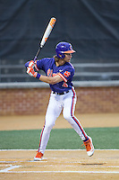 Eli White (4) of the Clemson Tigers at bat against the Wake Forest Demon Deacons at David F. Couch Ballpark on March 12, 2016 in Winston-Salem, North Carolina.  The Tigers defeated the Demon Deacons 6-5.  (Brian Westerholt/Four Seam Images)