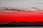 Elliott Bay with Crescent Moon