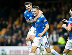 Motherwell v St Johnstone&hellip;20.10.18&hellip;   Fir Park    SPFL<br />Jason Kerr is mobbed by his team mates after scoring the winning goal<br />Picture by Graeme Hart. <br />Copyright Perthshire Picture Agency<br />Tel: 01738 623350  Mobile: 07990 594431
