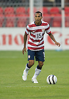 03 June 2012: US Men's National Soccer Team defender Edgar Castillo #15 in action during an international friendly  match between the United States Men's National Soccer Team and the Canadian Men's National Soccer Team at BMO Field in Toronto..The game ended in 0-0 draw...