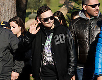 Rocco Hunt    partecipa ai funerali  di  Pino Daniele al santuario del divino amore di Roma