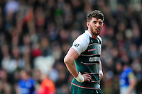 Owen Williams of Leicester Tigers looks on during a break in play. Aviva Premiership match, between Leicester Tigers and Saracens on March 20, 2016 at Welford Road in Leicester, England. Photo by: Patrick Khachfe / JMP