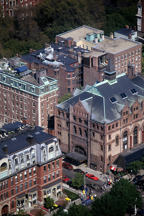 Massachusetts, Boston; Back Bay Buildings & Shops At Newbury & Exeter Streets; View From Observation Deck Of Prudential Towe
