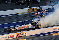 Apr. 13, 2012; Concord, NC, USA: NHRA top fuel dragster driver Doug Herbert during qualifying for the Four Wide Nationals at zMax Dragway. Mandatory Credit: Mark J. Rebilas-