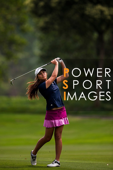 Brooke Hamilton of New Zealand in action during the 9th Faldo Series Asia Grand Final 2014 golf tournament on March 19, 2015 at Mission Hills Golf Club in Shenzhen, China. Photo by Xaume Olleros / Power Sport Images