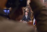 Roma, 15 Maggio 2015<br /> Raul Castro.<br /> Palazzo Chigi<br /> Il Presidente del Consiglio incontra il Presidente della Repubblica di Cuba Raul Castro.<br /> Rome, May 15, 2015<br /> Palazzo Chigi<br /> The Prime Minister Matteo Renzi meets the President of the Republic of Cuba Raul Castro
