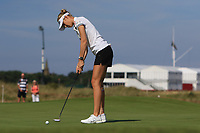 Nelly Korda (USA) on the 5th green during Round 4 of the Ricoh Women's British Open at Royal Lytham &amp; St. Annes on Sunday 5th August 2018.<br /> Picture:  Thos Caffrey / Golffile<br /> <br /> All photo usage must carry mandatory copyright credit (&copy; Golffile | Thos Caffrey)