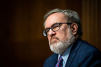 Andrew Wheeler, Administrator, United States Environmental Protection Agency (EPA), listens during a US Senate Environment and Public Works Committee hearing, on Capitol Hill in Washington, D.C., U.S., on Wednesday, May 20, 2020. <br /> Credit: Al Drago / Pool via CNP/AdMedia