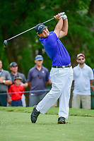 Patrick Reed (USA) watches his tee shot on 5 during Friday's round 2 of the PGA Championship at the Quail Hollow Club in Charlotte, North Carolina. 8/11/2017.<br /> Picture: Golffile | Ken Murray<br /> <br /> <br /> All photo usage must carry mandatory copyright credit (&copy; Golffile | Ken Murray)