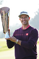 Adam Scott (AUS) poses with the trophy after the final round of the The Genesis Invitational, Riviera Country Club, Pacific Palisades, Los Angeles, USA. 15/02/2020<br /> Picture: Golffile | Phil Inglis<br /> <br /> <br /> All photo usage must carry mandatory copyright credit (© Golffile | Phil Inglis)
