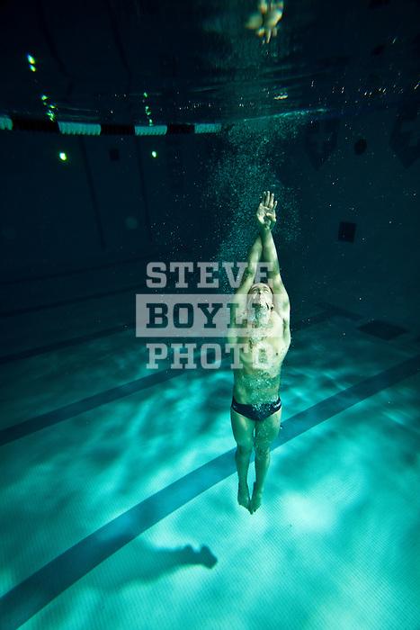 Hershey High School swimmer David Nolan on October 22, 2010 in Hershey, Pennsylvania...2010 © Steve Boyle