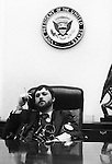 White House Photographer Ron Bennett in Vice Presidents office Washington D.C.,