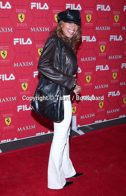 Lisa Vidal  arriving at the Seduction Of Speed an evening with the magazine Maxim at the Lounge @ Astra in Los Angeles. March 14, 2002.