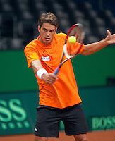 16-9-09, Netherlands,  Maastricht, Tennis, Daviscup Netherlands-France, Training, Jesse Huta Galung