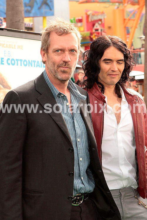 "**ALL ROUND PICTURES FROM SOLARPIX.COM**                                             **SYNDICATION RIGHTS FOR UK, AUSTRALIA, DENMARK, PORTUGAL, S. AFRICA, SPAIN & DUBAI (U.A.E) & ASIA (EXCLUDING JAPAN) ONLY**                                                                                   Arrivals for the ""Hop"" Los Angeles Premiere at Universal Studios Hollywood, Universal City, CA, USA                                                                    This pic:      Hugh Laurie and Russell Brand                                                                                        JOB REF:    13034    PHZ Gabber        DATE:   27.03.11                                                         **MUST CREDIT SOLARPIX.COM OR DOUBLE FEE WILL BE CHARGED**                                                                      **MUST AGREE FEE BEFORE ONLINE USAGE**                               **CALL US ON: +34 952 811 768 or LOW RATE FROM UK 0844 617 7637**"