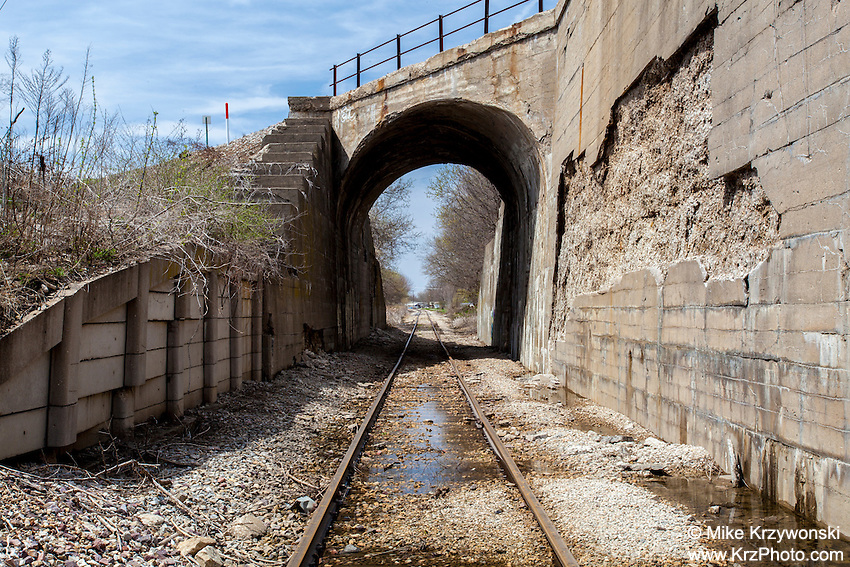 Railroad Tracks Leading through Tunnel in Iowa Falls, IA
