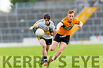 Jordan Kiely Dr Crokes goes past Jack Morgan Stacks during their County Championship clash in Fitzgerald Stadium on sunday