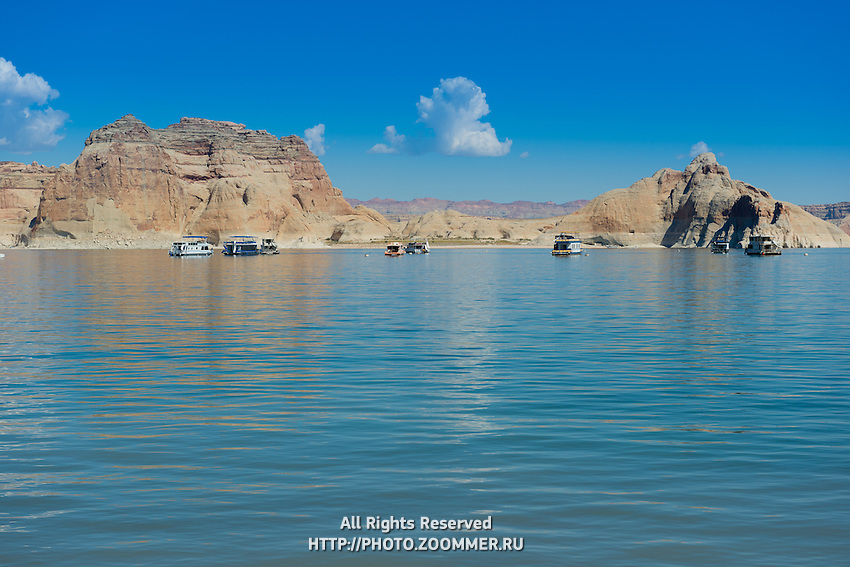 Lake Powell Boats, Utah, USA