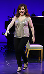 """Debbie Gravitte during the curtain call bows for """"They're Playing Our Song"""" Concert Benefit for The Actors Fund at the Music Box Theatre on February 11, 2019 in New York City."""