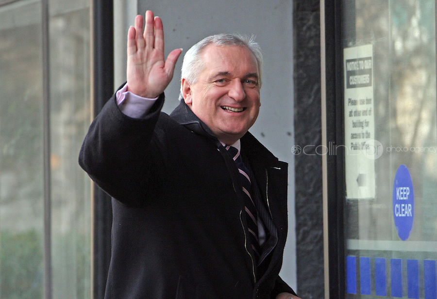22/02/'08 Taoiseach, Bertie Ahern pictured arriving at the Mahon Tribunal this morning....Picture Collins, Dublin, Colin Keegan.