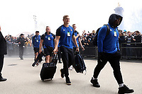 Jack Walker and the rest of the Bath Rugby team arrive at Twickenham Stadium. Gallagher Premiership match, The Clash, between Bath Rugby and Bristol Rugby on April 6, 2019 at Twickenham Stadium in London, England. Photo by: Rogan Thomson / JMP for Onside Images