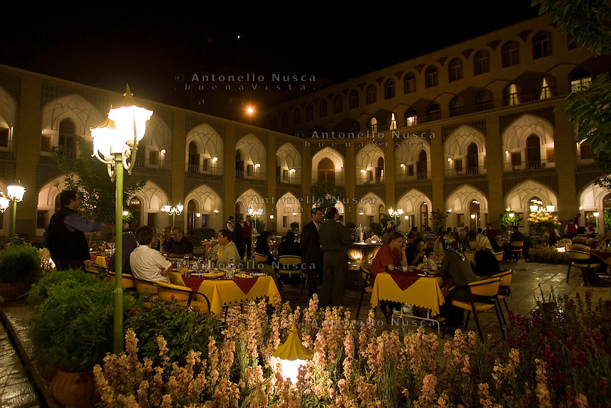 The Abbasi Hotel, once a large caravansary, in Isfahan, Iran May 4,  2007.