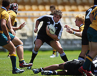 James Hadfield weighs his options as the clock runs down during the International rugby match between New Zealand Secondary Schools and Suncorp Australia Secondary Schools at Yarrows Stadium, New Plymouth, New Zealand on Friday, 10 October 2008. Photo: Dave Lintott / lintottphoto.co.nz