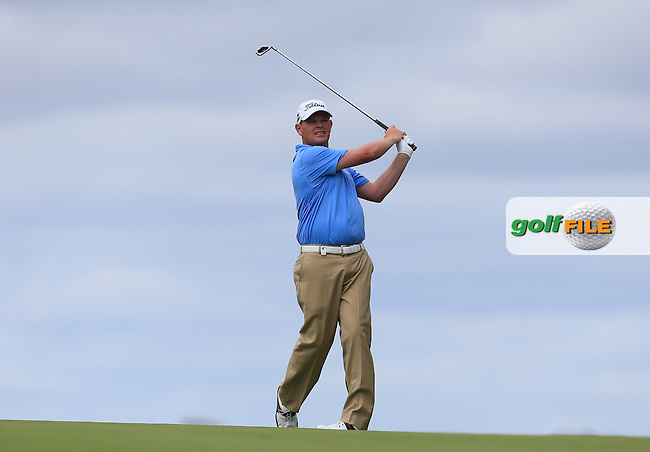 David Drysdale (SCO) on the 18th during Round 3 of the ISPS HANDA Perth International at the Lake Karrinyup Country Club on Saturday 25th October 2014.<br /> Picture:  Thos Caffrey / www.golffile.ie