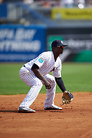 New York Yankees shortstop Didi Gregorius (18) during a Spring Training game against the Detroit Tigers on March 2, 2016 at George M. Steinbrenner Field in Tampa, Florida.  New York defeated Detroit 10-9.  (Mike Janes/Four Seam Images)