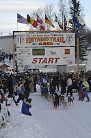 John Baker Willow restart Iditarod 2008.