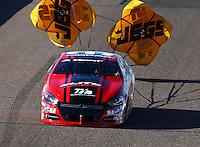 Feb 26, 2016; Chandler, AZ, USA; NHRA pro stock driver Erica Enders-Stevens during qualifying for the Carquest Nationals at Wild Horse Pass Motorsports Park. Mandatory Credit: Mark J. Rebilas-