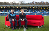Matt Bloomfield & Manager gareth Ainsworth During BBC Breakfast as they air their live broadcast on Tuesday morning, presented by Bill Turnbull for his penultimate appearance on the programme at Adams Park, High Wycombe, England on 23 February 2016. Photo by Andy Rowland.