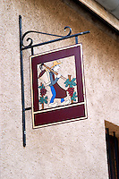 wrought iron sign clos st louis fixin cote de nuits burgundy france