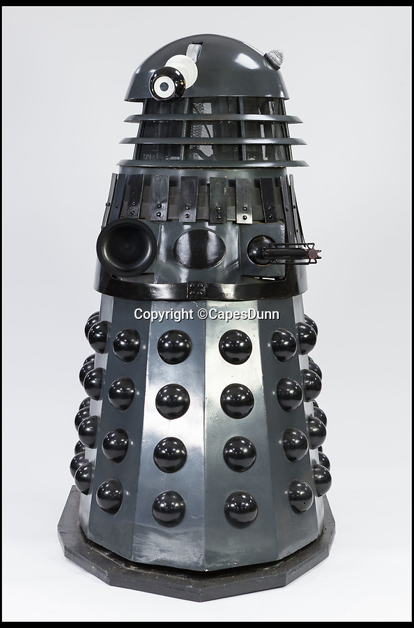BNPS.co.uk (01202 558833)Pic: CapesDunn/BNPS<br /> <br /> 'Lifesize' Dalek Est £400.<br /> <br /> More Daleks than you can shake a sonic screwdriver at...<br /> <br /> One man's lifetime collection of hundreds of Daleks is going under the hammer and looking to exterminate their £8,000 estimate.<br /> <br /> The collection, which includes 17 6ft life-size models, had been amassed over five decades and had taken over the owner's detached house and garden in Salford, Greater Manchester.<br /> <br /> But the man in his 60s, who is not being identified, sadly died recently and his collection has now been put up for sale with Capes Dunn auctioneers in Stockport.