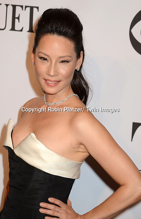 Lucy Liu arrives at the 68th Annual Tony Awards on June 8, 2014 at Radio City Music Hall in New York, New York, USA.