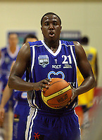 Marquis Webb prepares to take a penalty during the NBL Basketball match between Wellington Saints and Otago Nuggets at TSB Bank Arena, Wellington, New Zealand on Sunday, 30 March 2008. Photo: Dave Lintott / lintottphoto.co.nz