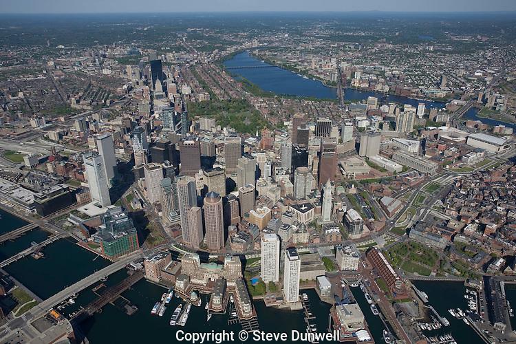 Aerial view, 2000', Boston, MA