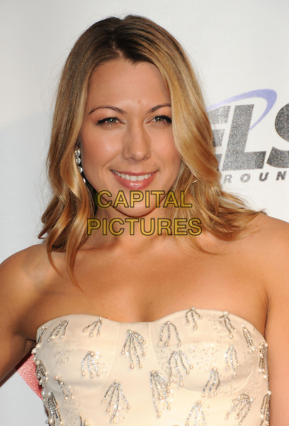 COLBIE CAILLAT.at The 2010 Musicares Person of The Year Tribute to Neil Young held at The L.A. Convention Center in Los Angeles, California, USA, January 29th 2010                                                                   .portrait headshot strapless cream beaded .CAP/RKE/DVS.©DVS/RockinExposures/Capital Pictures