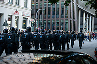 "GERMANY, Hamburg, protest rally ""G-20 WELCOME TO HELL"" against G-20 summit in july 2017 / DEUTSCHLAND, Hamburg, Landungsbruecken, Protest Demo gegen G20 Gipfel in Hamburg"