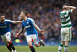 Barrie McKay scores a wonder goal for Rangers and celebrates