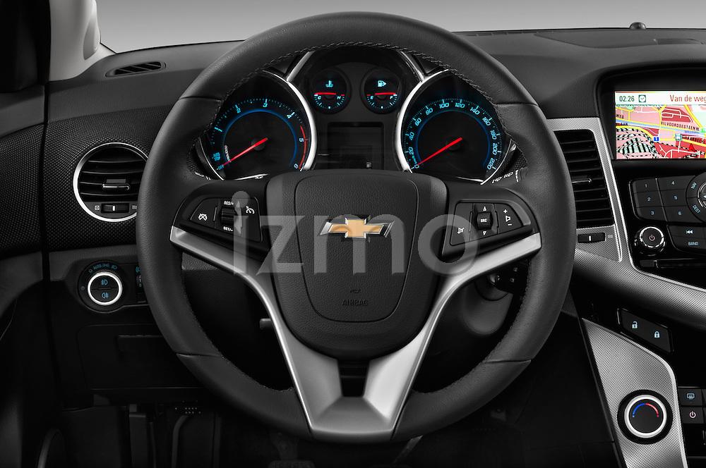 Steering wheel view of a 2013 Chevrolet CRUZE LTZ 5 Door Hatchback 2WD